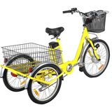Yellow Fat Wheel Electric Trike